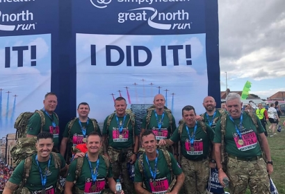 4 YORKS Quebec Company at Great North Run