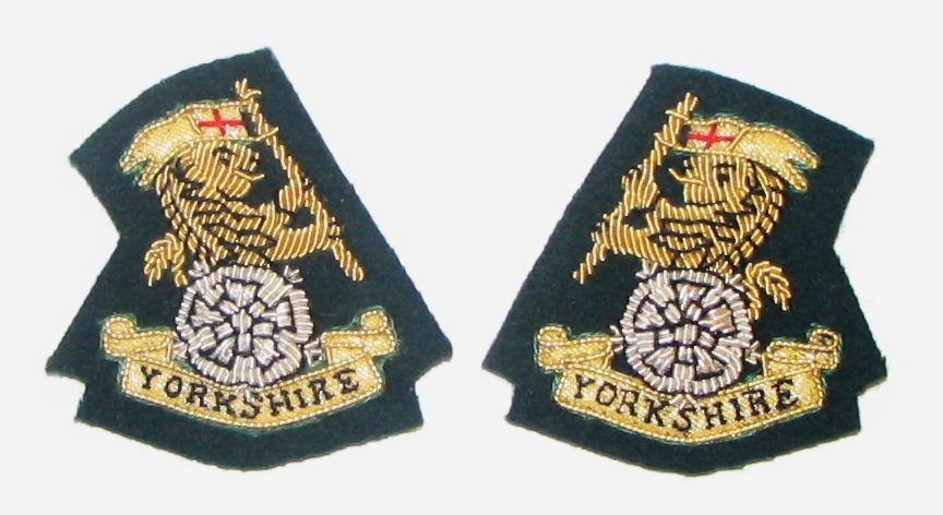 YORKS Mess Kit Collar Badges