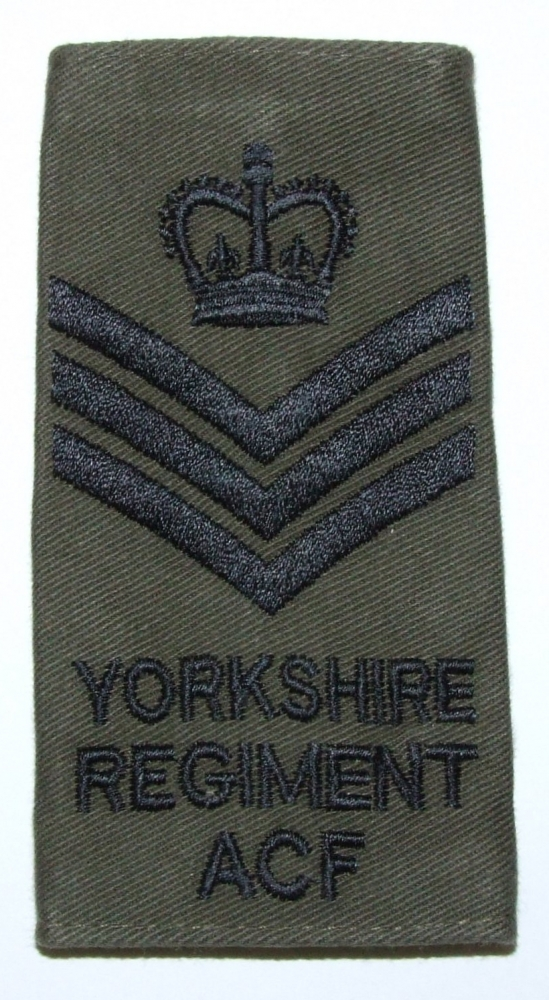 YORKS CSgt Rank Slides